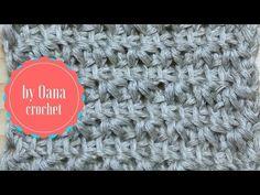 Punto stella con l'uncinetto tunisino by Oana - YouTube