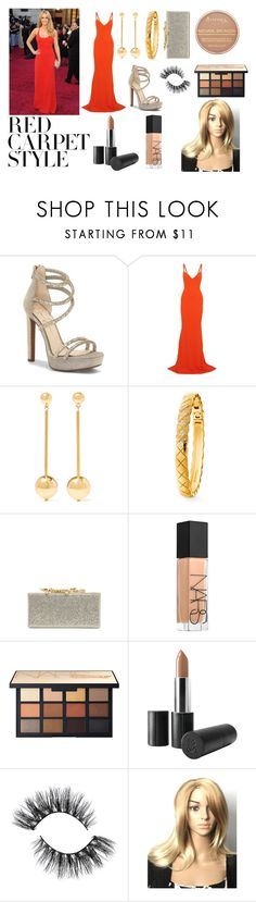 """""""Red Carpet Flashback"""" by bkraven ❤ liked on Polyvore featuring Jessica Simpson, STELLA McCARTNEY, Sophie Buhai, Chanel, Jimmy Choo, NARS Cosmetics, WithChic and Rimmel"""