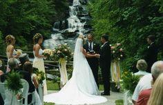 wow! waterfall wedding