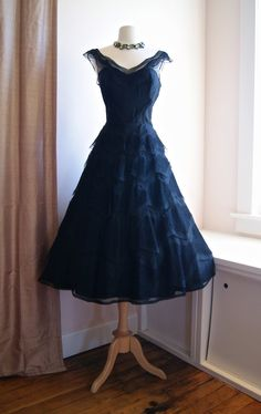 1950s Dress // Vintage 50sTiered Lace Cocktail by xtabayvintage, $398.00