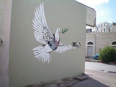 Banksy - Armoured Peace Dove - Banksy — Wikipédia