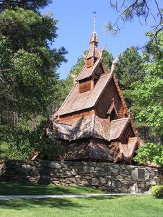 Chapel in the Hills, Rapid City, SD.  The Norwegian style church and grounds are often used for reflection and wedding ceremonies.