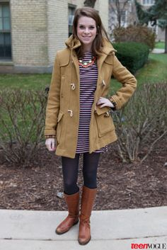 The midwest's majorly cool take on college street style: a nd student featured on teen vogue's website? Cold Weather Outfits, Casual Winter Outfits, Trendy Outfits, Fashion Outfits, College Fashion, College Outfits, College Wear, College Style, Teen Vogue