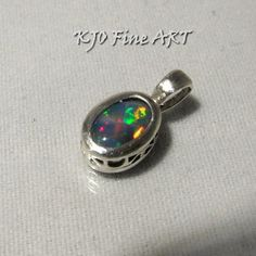Rainbow opal jewelry ~ Welo jewelry ~ Cute pendant ~  Colorful modern unique necklaces ~ October birthday gift ideas ~ Iridescent gemstones
