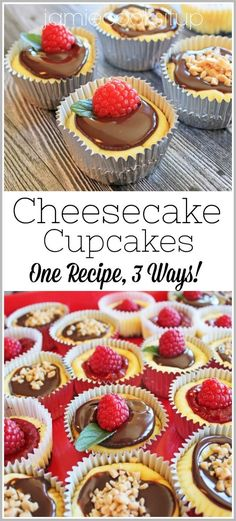 I have a fun and ever so pretty recipe to share with you all today. Cheesecake in mini cupcake form. Seriously these are as delicious as they are beautiful. Wedding Season is upon us and I kno… Cheesecake Cupcakes, Cheesecake Recipes, Cupcake Recipes, Mini Cupcakes, Cupcake Cakes, Dessert Recipes, Pie Recipes, Cupcake Flavors, Dessert Ideas