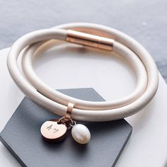 Leather And Rose Gold Wrap Bracelet