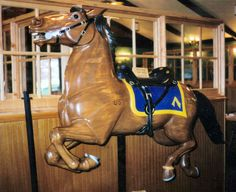 Carving Carousel Horses | ... Carousel - Original Carving of The Cavalry Horse Used For Fiberglass