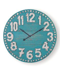 Turquoise Clifford Wall Clock by Foreside