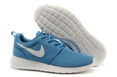 Mens - Nike Roshe Run Mesh Sky Blue White