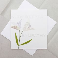 Deepest Sympathy Lily Card