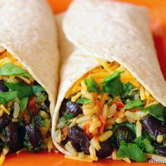 Spinach  and Bean Burrito Wrap