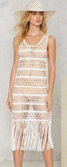 Nasty Gal - Look Right Through Crochet Cover-Up
