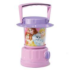 Pet- and princess-lovers will rest easy in the soft glow of this adorable lantern-style night light. Uses 4 AA batteries (not included). Ages 3 and up. Plastic. Imported.©Disney