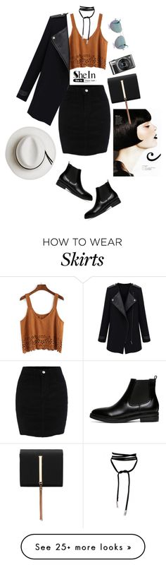 """Shein: Black Skirt"" by tharwawajihahzainal on Polyvore featuring Calypso Private Label and Cutler and Gross"