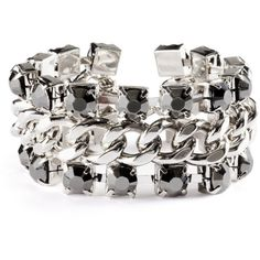 H&M Bracelet £7.99 ($11) ❤ liked on Polyvore featuring jewelry, bracelets, accessories, h&m, schmuck, silver, adjustable bangle, hinged bangle, bangle bracelet and adjustable bangle bracelet