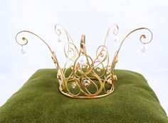 Golden Fairytale Princess Crown of gold covered silver by Castens, $870.00