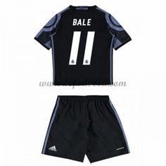Billige Fodboldsæt Real Madrid Børn 2016-17 Bale 11 Kortærmet Tredjesæt