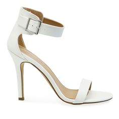 Get ready for this warm weather with Sydney-41! Features include a sleek nubuck upper, single sole, exposed high heel, single strap open toe front and a silver buckle ankle strap. Heel Height: 4″ Plat