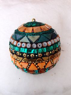 Mosaic Ornament by Doreen Bell Mosaic, via Flickr