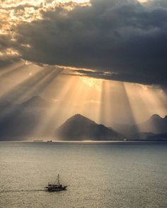 "19.9k Likes, 113 Comments - OUR PLANET DAILY (@ourplanetdaily) on Instagram: ""Spectacular Rays over Antalya, Turkey Photo by © @izdes"""