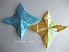 Origami 2-color 8-pointed star Folding Instructions - How to Fold ...