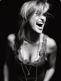 Laughter...Mariska Hargitay
