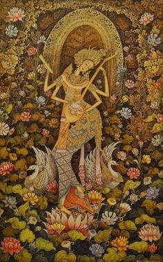 Goddess Saraswati devi Saraswati: Goddess of Knowledge & Arts