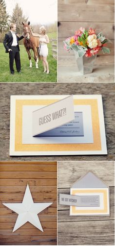 Pop-up invitation. Would make an amazing Save the Date or post-elopement announcement ...