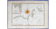 Antique map 1780 of Adventure Bay Van Diemens Land - Tasmania - by Rigobert Bonne of Paris Carte de la Terre van Diemen Fine 18th century engraved map with beautiful hand colouring. This map depicts the track of Captain James Cook on his third voyage to Australia. The area mapped is almost due south of Hobart at Adventure Bay. - See more at: https://noteworthy-collectibles.com/australian-antique-maps/1777-antique-map-of-tasmania---bonne#sthash.B32HzKEf.dpuf