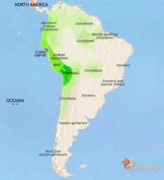 Territorio degli Inca situati all'est dell Oceania e al sud del Nord America