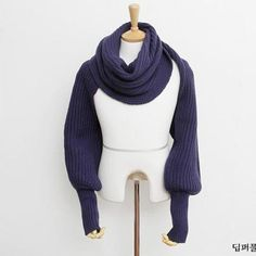 Knitted Poncho Shawl Coat