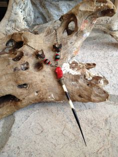 Porcupine Quill Red Coral And Snake by TheFreezingSquirrel on Etsy, $59.00