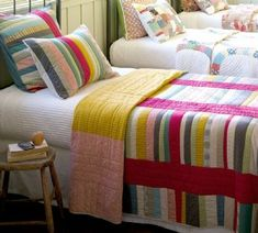 This makes me think of the colours of Refreshers sweets. Delicious. (I must not eat quilts though...that's for goats).