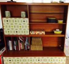 1970s Wall Unit (Upcycled With Orla Kiely Wallpaper)