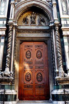 Florence Duomo Piazza Door - Johnson-Miles photo