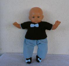 Ensemble pour poupon de 30 cm.  MCL Poupées, vêtements pour les poupées et les poupons