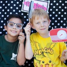 50s Printable Photo Booth Props