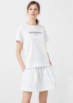 T-shirt coton biologique -  Femme | MANGO France