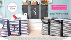 Our #1 selling Large Utility Tote has been upgraded! Large Utility Tote Limited is only available in May. Don\'t miss your chance to grab one! Check it out at www.jamiesblessin...