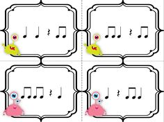 My Musical Menagerie: Kodály and Orff Classroom: Annoying Aliens! A Center Game for Practicing Ta, Ti-Ti, and Rest Class Games, Music Class, Music Education, Music App, Music Notes, Middle School Music, Rhythmic Pattern, Music Station, Partition