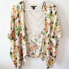 Floral Kimono Really cute and can go with a lot of things! Good condition, worn a few times but not noticeable.  Forever 21 Other