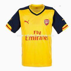 Segunda Camisetas del Arsenal 2014/15 01