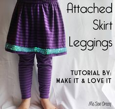 Pattern Pile, Make it & Love it's Attached Skirt Leggings