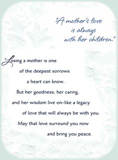 A Mother's Love ....