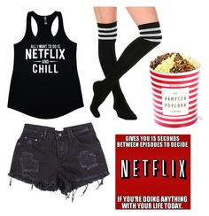 """""""Netflix and Chill Mode"""" by frozenwolfe on Polyvore featuring CO"""