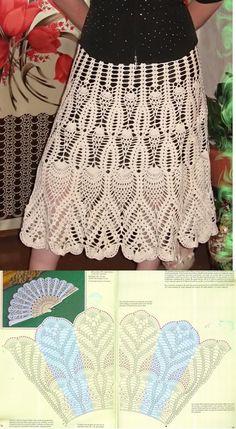 How to Crochet a Little Black Crochet Dress - Crochet Ideas Crochet Bodycon Dresses, Crochet Skirts, Crochet Clothes, Crochet Diagram, Crochet Chart, Knit Crochet, Crochet Gratis, Crochet Summer, Crochet Designs