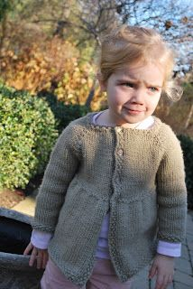 'My favorite little girl cardigan knit'