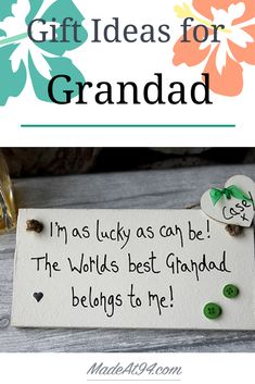 Grandads have everything right?So you need to search for unique gifts for grandpa, something that he hasn't had yet! Try this selection of birthday gift ideas for grandpa from grandkids! You might just find what you're looking for. Grandpa Birthday Gifts, Kids Birthday Cards, Mum Birthday, 40th Birthday Gifts, Grandpa Gifts, Grandfather Gifts, Birthday Ideas, Homemade Gifts, Diy Gifts