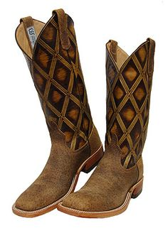 Anderson Bean Tag Boar Boots with Vintage Butterscotch Diamond Tops for Women