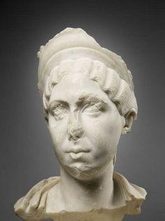Julia Mamaea, mother of Alexander Severus, ca. 225-230 C.E.,  Musée du Louvre, Paris,   Ma 3552  (Photo: Thierry Ollivier)
